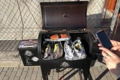 A harmadik grillre került a pisztráng, durbincs és a lazac