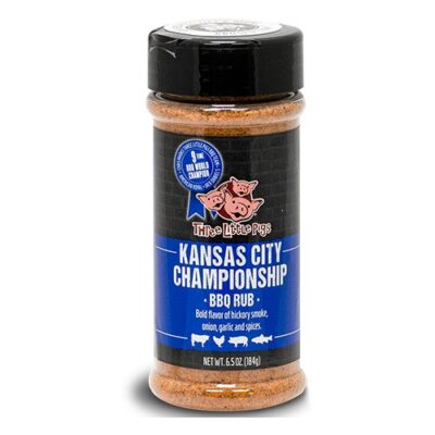 three little pigs bbq kansas city championship bbq rub 184g okosgrill