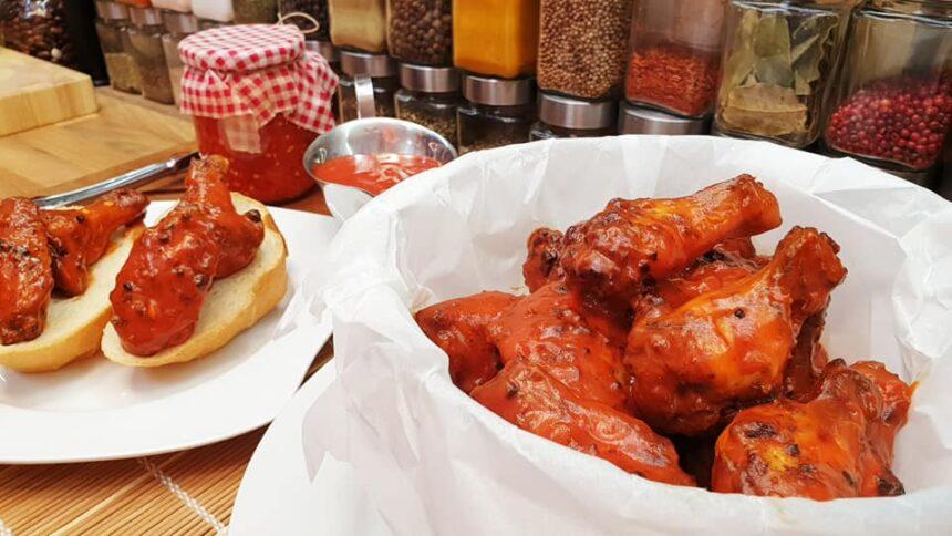Buffalo csirkeszárnyak grill recept by Szoky konyhája