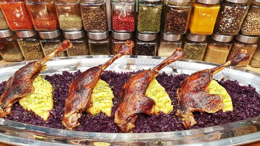 Márton napi libacomb párolt káposztával – Szoky konyhája